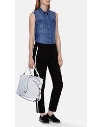 Karen Millen Soft Denim Sleeveless Shirt - Lyst