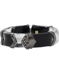 Alexis Bittar Chevron Section Hinge Bracelet - Lyst