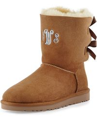Ugg Bailey Bow-Back Short Boot brown - Lyst
