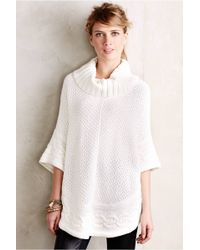 Moth Gamine Cable Poncho - Lyst
