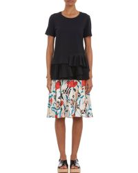 Thakoon Pleated T-Shirt - Lyst