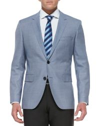 Boss by Hugo Boss Houndstooth Check Wool Twobutton Blazer - Lyst
