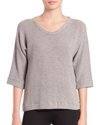 James Perse | Knit Mesh Top | Lyst