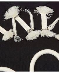 Lanvin - Black Embelished Heart Cotton Sweatshirt - Lyst