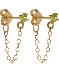 Melissa Joy Manning - Gold And Peridot Chain Stud Earrings - Lyst