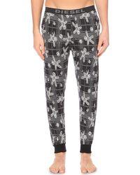 DIESEL | Massi Skeleton-print Stretch-cotton Pyjama Bottoms | Lyst