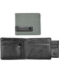 Nixon Showtime Bi-Fold Id Khaki Zip Wallet - Lyst
