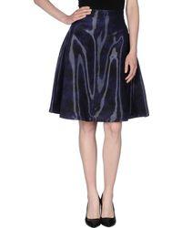 Markus Lupfer Knee Length Skirt blue - Lyst