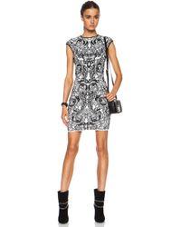 Alexander McQueen Flower Jacquard Viscoseblend Dress - Lyst