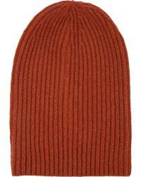 Barneys New York English Rib-Knit Beanie - Lyst