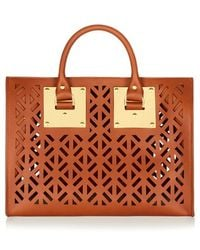 Sophie Hulme Perforated Leather Bowling Bag - Lyst