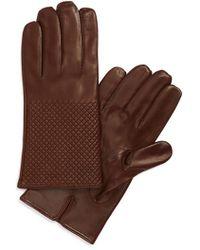 Want Les Essentiels De La Vie | 'dumas' Quilted Lambskin Gloves | Lyst