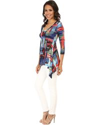 Karen Kane Painted Canvas Handkerchief Top multicolor - Lyst