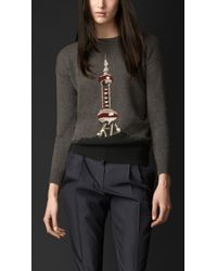 Burberry Shanghai Landmark Cashmere Sweater - Lyst