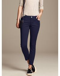 Banana Republic Sateen Skinny Ankle Pant Preppy Navy - Lyst