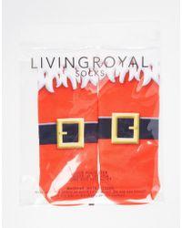 Living Royal - Santa Boot Socks - Lyst