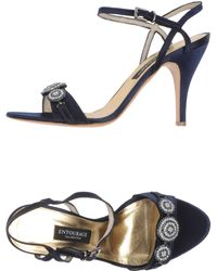 Entourage Blue Sandals - Lyst