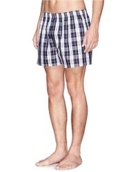 Sunspel Seasonal Plaid Boxer Shorts - Lyst