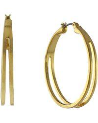 BCBGeneration - Goldtone Cutout Hoop Earrings - Lyst