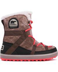 Sorel Glacy Explorer Shortie Waterproof Boots - Lyst