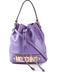 Moschino Logo Bucket Shoulder Bag - Lyst