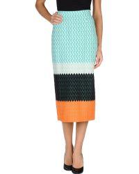Missoni 3/4 Length Skirt - Lyst