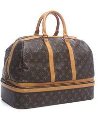 Louis Vuitton Pre-owned Monogram Canvas Sac Sport Travel Bag - Lyst