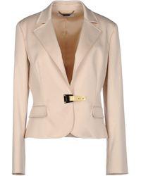 Versace Beige Blazer - Lyst