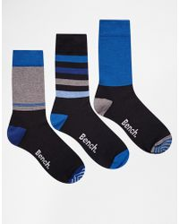Bench - 3 Pack Socks - Lyst