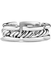 David Yurman Cable Link Band Ring - Lyst