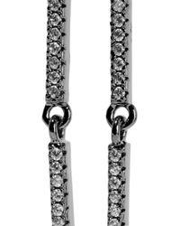 Noir Jewelry - Tirana Gunmetal-tone Crystal Earrings - Lyst