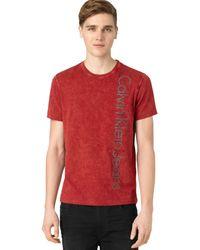Calvin Klein Red Logo T-shirt - Lyst