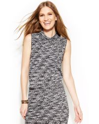Vince Camuto Sleeveless Digitalprint Crop Top - Lyst