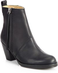 Acne Studios Pistol Leather Ankle Boots - Lyst