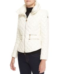 Moncler Fitted Quilted Jacket - Lyst