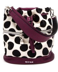 House Of Holland Leather and Pony Skin Bucket Bag - Lyst