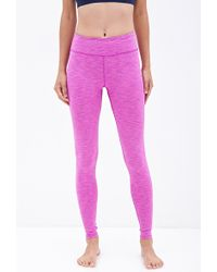 Forever 21 Space Dye Workout Leggings - Lyst