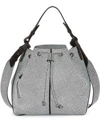 Time's Arrow - Lida Grid Multi-Carry Bucket Bag - Lyst