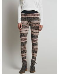 Free People Hendrix Sweater Legging - Lyst
