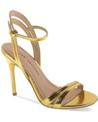 Chinese Laundry Lilliana Evening Sandals gold - Lyst