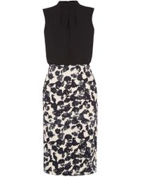 Oasis | Shadow Print 2 In 1 Dress | Lyst