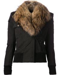 Balmain Fur Collar Jacket - Lyst