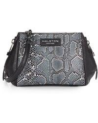 Halston Heritage | Mosaic Python Embossed Leather Side-zip Satchel | Lyst