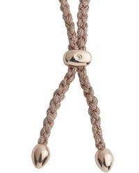 Monica Vinader - Esencia 18kt Rose Gold-plated Bracelet - Lyst