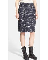 Max Mara 'Supremo' Abstract Print Stretch Jacquard Skirt - Lyst