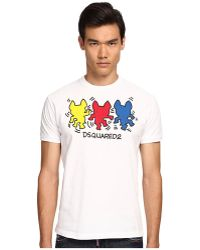 DSquared2 Haring Chic Dan Fit Tee - Lyst