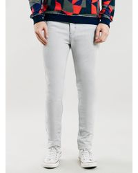 Long Bleach Wash Classic Skinny Fit Jeans - Lyst