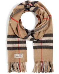 Burberry Cashmere Giant Check Icon Scarf - Lyst