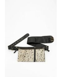 Silence + Noise | Silence Noise Calf Hair Belt Bag | Lyst