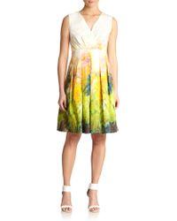 Lafayette 148 New York Printed Faux-Wrap Dress - Lyst